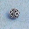 Lot of 2 Sterling Silver Bead Telkari 5 mm 1 gram ID # 2985