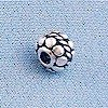 Lot of 2 Sterling Silver Bead Floral 6 mm 1.2 gram ID # 2984