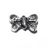 Lot of 2 Sterling Silver Butterfly Bead Charm 9 mm 1.2 gram ID # 6438