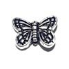 Sterling Silver Butterfly Bead Charm 14 mm 1.9 gram ID # 6437