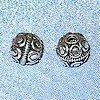 Lot of 2 Sterling Silver Beads 7 mm 1.5 gram ID # 2964