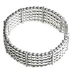 Full Sterling Silver Beaded Cuff Bracelet 38 gram ID # 6062