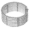 Full Sterling Silver Beaded Cuff Bracelet 52 gram ID # 6063