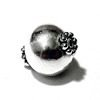 Sterling Silver Bead 13 mm 1.6 gram ID # 6469