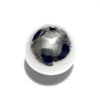 Sterling Silver Bead 15 mm 2.2 gram ID # 6518
