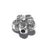 Sterling Silver Flower Bead Charm 7 mm 1 gram ID # 6435