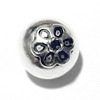 Sterling Silver Bead 15 mm 2.7 gram ID # 6478