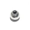 Lot of 2 Sterling Silver Bead 6.5 mm 1 gram ID # 6472