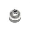 Lot of 2 Sterling Silver Bead 9 mm 1.6 gram ID # 6473