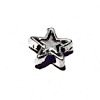 Lot of 3 Sterling Silver Star Bead Charm 7 mm 1.2 gram ID # 6433