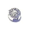 Sterling Silver Patterned Bead Charm 7 mm 1.7 gram ID # 6442
