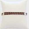Double cord braided leather bracelet with sterling silver 3 mm ID # 6667