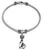 Sterling Silver Thematic Charm Bracelet Cat 9 gram ID # 6614