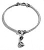 Sterling Silver Thematic Charm Bracelet Snake 9 gram ID # 6612
