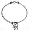 Sterling Silver Thematic Charm Bracelet Dog 9.5 gram ID # 6613