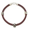 Sterling Silver Thematic Charm Bracelet on Leather Dog ID # 6658