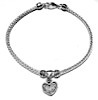 Sterling Silver Thematic Charm Bracelet Heart 9 gram ID # 6606
