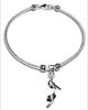 Sterling Silver Thematic Charm Bracelet Heels 9 gram ID # 6604