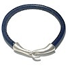 5 mm Leather Bracelet with Sterling Silver ID # 6615