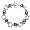 Full Sterling Silver Beaded Link Bracelet 20 gram ID # 4562