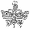 Sterling silver butterfly filigree pendant 28 mm 3 gram ID # 6777