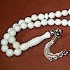 Camel Bone Islamic Prayer Beads Tasbih w/silver ID # 5583