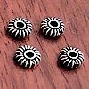 Lot of 4 Silver Spacer Beads 7 mm 1.2 gram ID # 3177