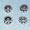 Lot of 3 Sterling Silver Spacer Bead 5 mm 1.14 gram ID # 4466