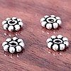 Lot of 5 Sterling Silver Spacer Beads 5 mm 1 gram ID # 2958