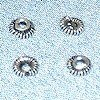 Lot of 10 Silver Bead Cap Spacer 4 mm 1 gram ID # 3104