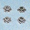 Lot of 3 Sterling Silver Bead Caps 6 mm 1 gram ID # 4468