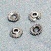 Lot of 7 Silver Bead Cap Spacer 5 mm 1 gram ID # 3102