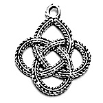 Sterling Silver Charm Pendant Celtic Braid 19 mm 1 gram ID # 6941