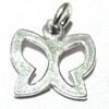 Lot of 2 Sterling Silver Charm Pendant Butterfly 13 mm 1.6 gram ID # 6353