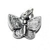 Sterling Silver Charm Pendant Butterfly 10 mm 1.2 gram ID # 6354