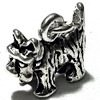 Sterling Silver Charm Pendant Dog 12 mm 1.7 gram ID # 6358