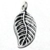 Lot of 2 Sterling Silver Charm Leaf 16 mm 1.4 gram ID # 6344