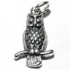 Sterling Silver Charm Pendant Owl 17 mm 1.6 gram ID # 6360