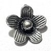 Lot of 2 Sterling Silver Charm Flower 10 mm 1.6 gram ID # 6345