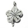 Sterling Silver Charm Flower 20 mm 1.4 gram ID # 6362