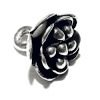 Sterling Silver Charm Rose 11 mm 1.8 gram ID # 6363