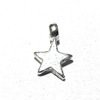 Lot of 5 Sterling Silver Charm Star 9 mm 1 gram ID # 6349