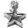 Sterling Silver Charm Pendant Star 15 mm 1.2 gram ID # 6365
