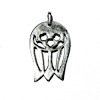 Sterling Silver Charm Pendant Tulip 20 mm 1 gram ID # 6370