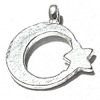 Lot of 2 Sterling Silver Charm Crescent Star 14 mm 1.6 gram ID # 6333