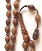 Cherry Wood Tasbih Islamic Prayer Beads 10x7 mm ID # 6688