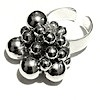 Full Sterling Silver Cluster Ring Sz 7 Fits All 14 gram ID # 4205