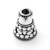 Sterling Silver Bead Cap Cone 15 mm 3.4 gram ID # 6853
