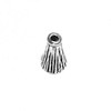 Lot of 2 Sterling Silver Bead Cap Cone 6 mm 1.2 gram ID # 6845