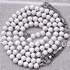 White Coral Islamic Prayer Beads Tasbih 99 Tiny w/silver ID # 4755